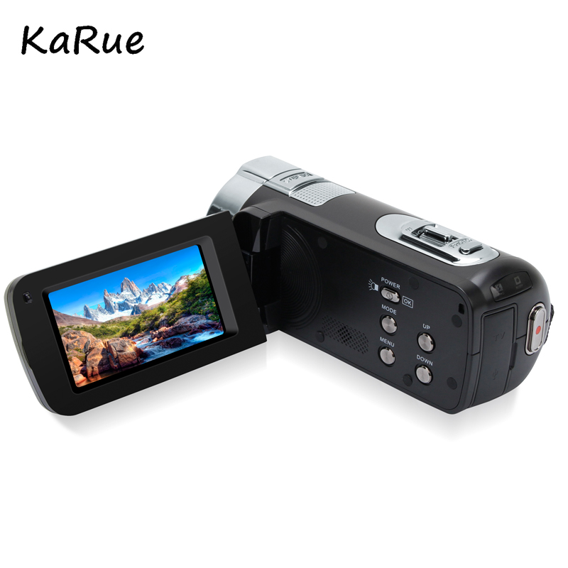 KaRue New 1080P HD 16x Digital Zoom Digital Video Camera Camcorder with 3.0 inch LCD Screen Max.24MP Support Face Detection 6