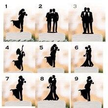 Свадебный Топпер для невесты и жениха, силуэт, пьяная невеста, топпер для торта для мужчин и женщин, Забавный Топпер для торта, товары для дек...