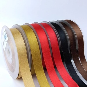 Image 1 - 9mm,16mm,25mm,38mm Gold Weft Polyester Satin Ribbon double face Wedding Decoration Candy Cake Wrapping Craft 100yards Lot P268