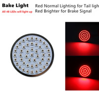 A Set 2inch Motorcycle Stop Red Brake Light 1157 Custom 12 Volt Automotive Tail LED turn signal inserts light for Harley