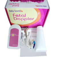 Babysound Fetal Doppler Bebê Heart Rate Monitor + Ultrasound Gel/Pilhas rosa