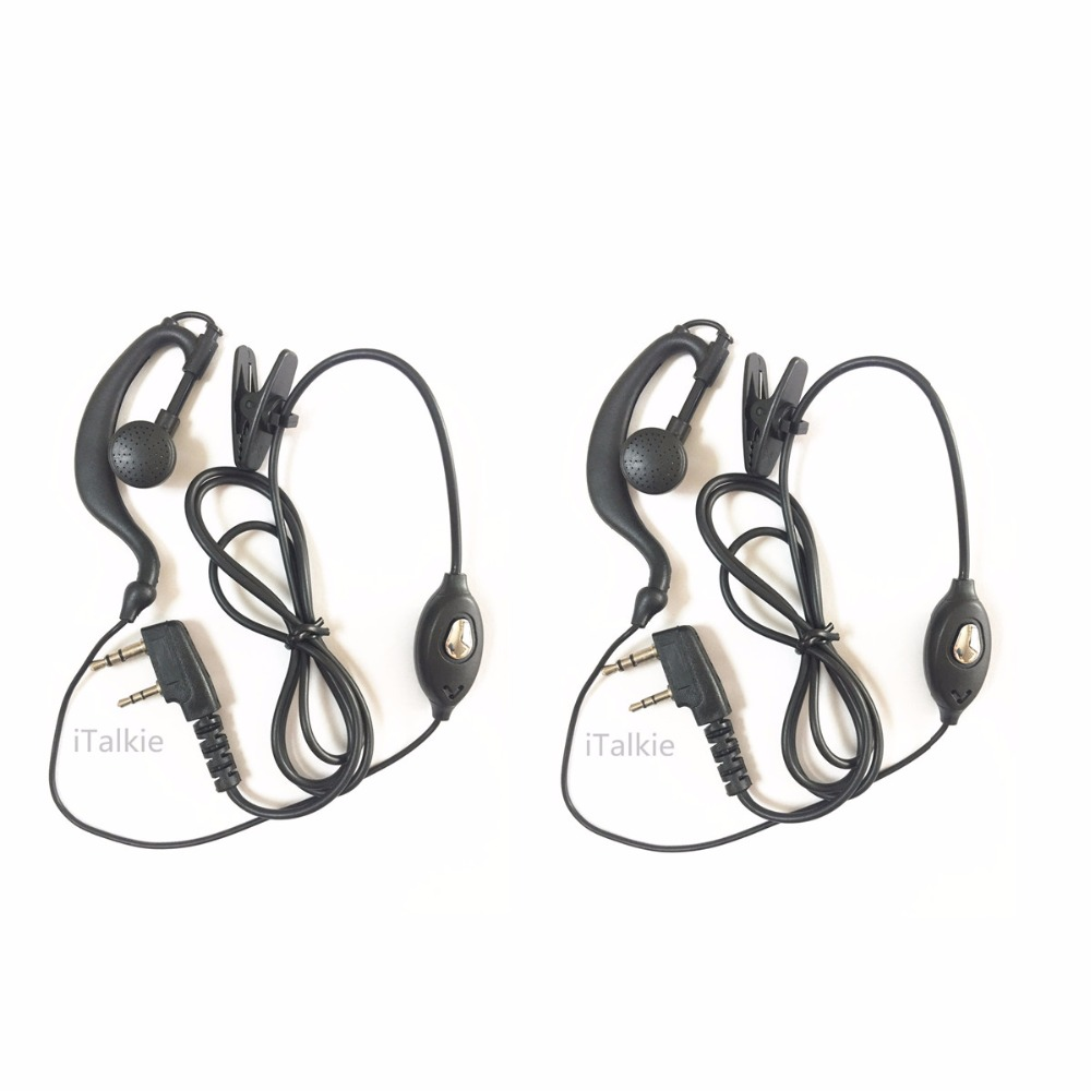 2x Retevis 2PIN PTT Mic Headphone Headset for Kenwood Baofeng UV5R 888S Radio US