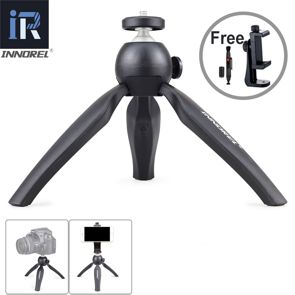INNOREL PW10 Mini Tabletop Camera Tripod Lightweight Travel Tripod with Phone Clip Holder Mount For iPhone Mirrorless Cameras in Live Tripods from Consumer Electronics