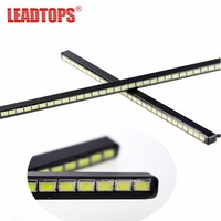 24LED SMD5630 LED Car DRL Fog Daytime Running Light Ultra Thin Invisible Waterproof LED DRL Strip