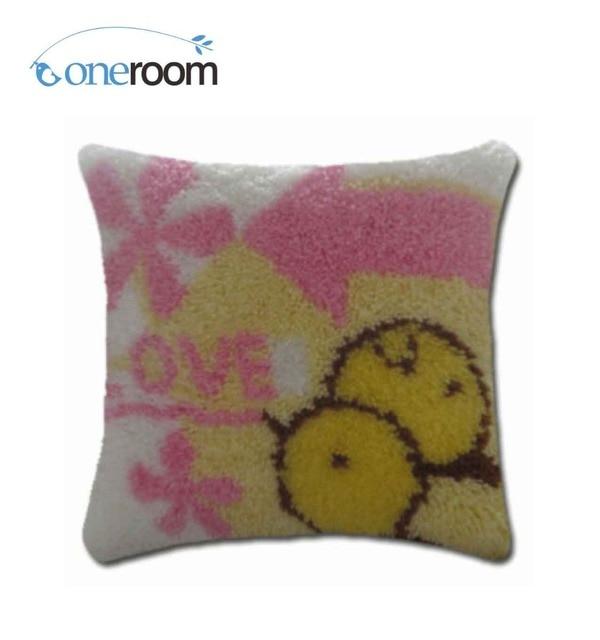 4thbz064 Love Birds 4thhook Rug Kit Pillow Diy Unfinished Crocheting Yarn Mat Latch Hook