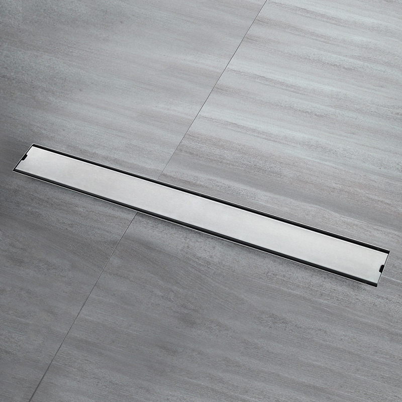 Bathroom Floor Drain 60cm 80cm 100cm 120cm Sus304 Stainless Steel Deodorization Side Row Shower Drains Brushed