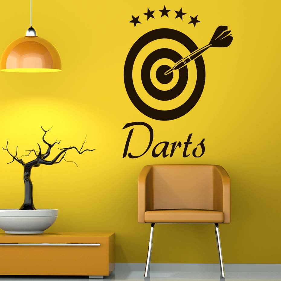 DCTOP Darts Wall Decal Home Sticker Target Sports Removable Vinyl ...