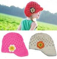 Baby Girl Kids Toddlers Children Newborn Casquette Bebe Handmade Knit Bonnet Hat Cap Beanie Visors Hair