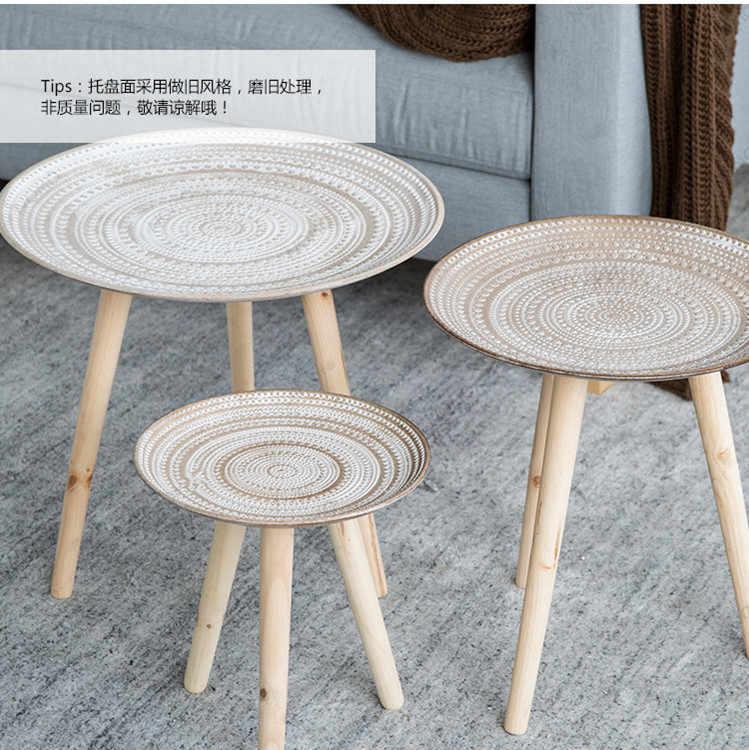 Креативный поднос, маленький столик, журнальный столик, маленькая гостиная, украшение, Европа и Америка, мебель из сосны