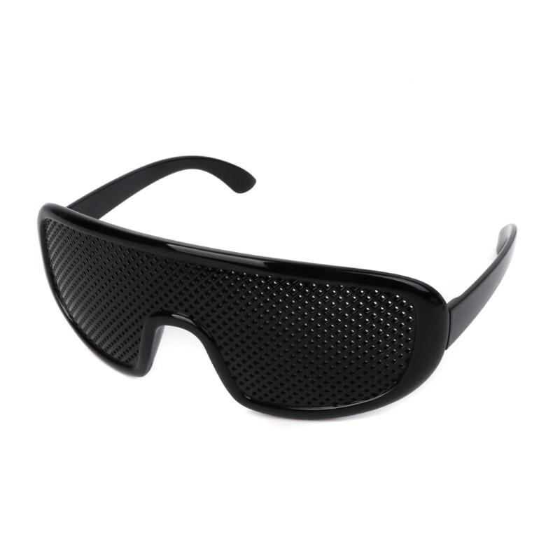 hot Black Unisex Vision Care Pinhole Eyeglasses pin hole Glasses Eye Exercise Eyesight Improve Plastic Natural Healing Cheap