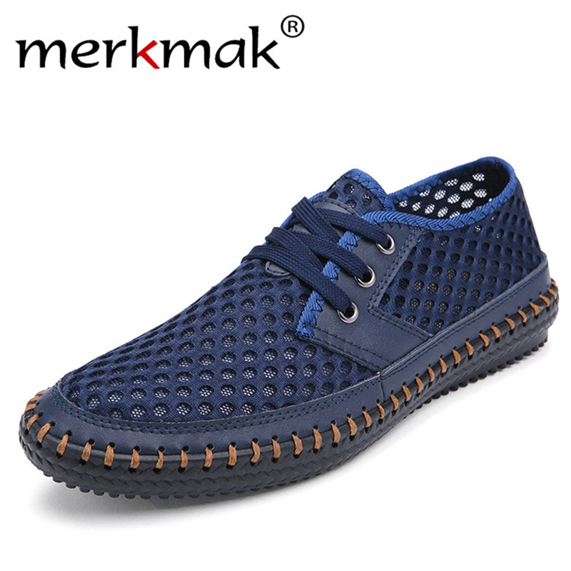 Drop Ship Breathable Men's Casual Shoes Summer Shoes 2018 Fashion Breathable Mesh Shoes Zapatos Hombre Plus Size 38-48 Footwear plus size women footwear shoes star hollow platform loafer shoes summer breathable students casual flat with shoes increase shoe