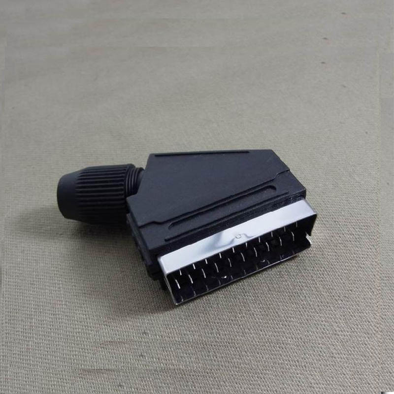 Wholesale 100pcs/lot High Quality New European Style 21PIN SCART DB Male Socket With 2 Column