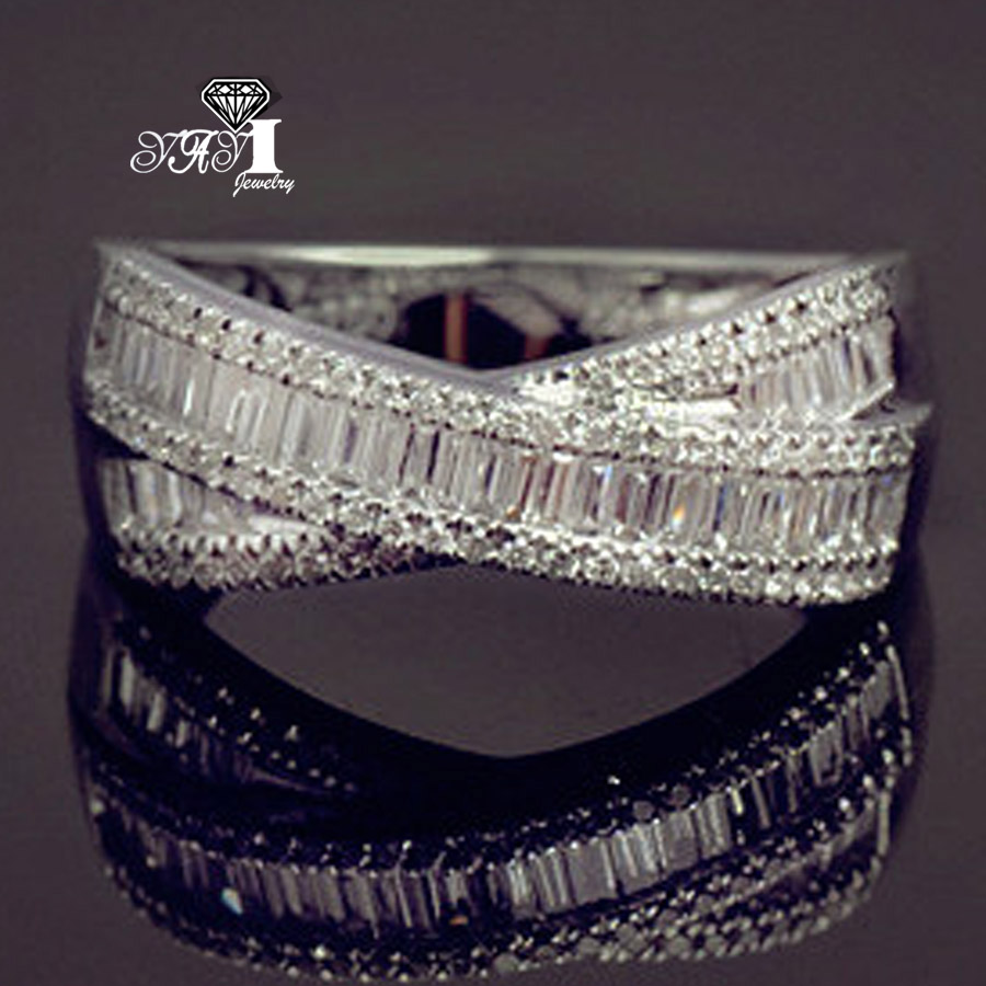 Intellektuell Yayi Schmuck Mode Prinzessin Cut 4.9ct Weiß Zirkon Silber Farbe Verlobungsringe Hochzeit Partei Schellt Profitieren Sie Klein Verlobungsringe