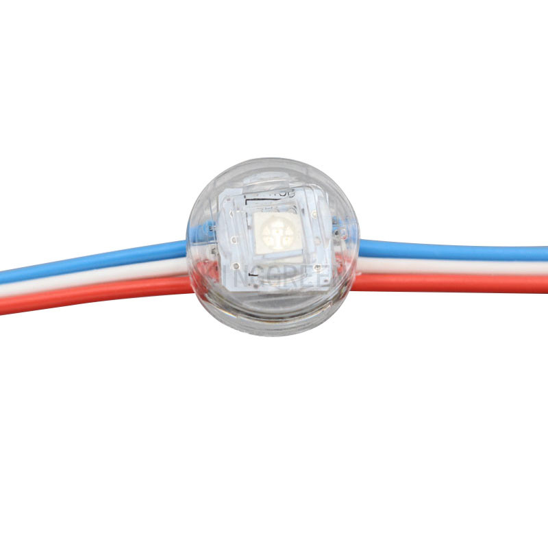 Lighting Strings 1000x Wholesale Clear Cover 12mm Dc5v Input Addressable Sm16703 Rgb Led Point Light Source Ip68 Express Free Shipping Drip-Dry