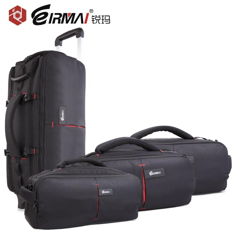 EIRMAI DSLR Photo Carrying Shoulder Nylon Waterproof Rain Cover Camera Tripod Bag Lens Padded Case Pouch