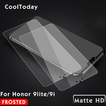 Matte Tempered Glass For Huawei Honor 9 lite 9i Screen Protector For Huawei Honor 9i 9lite Protective Film Frosted IIRROONN protective matte frosted pet screen protector film guard for htc t328d transparent