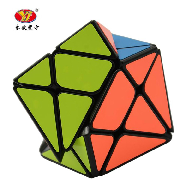 YongJun YJ Axis Magic Cube Change Irregularly Jinggang Speed Cube with Frosted Sticker YJ 3x3x3 Black Body Cube New yj guanlong speed third order magic cube toy