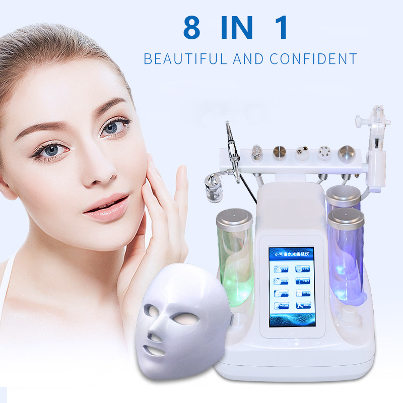 NEW 8 In 1 Hydra Dermabrasion Aqua Peeling Vacuum Face Pore Cleaning Skin Rejuvenation Water Oxygen Jet Facial Beauty Machine