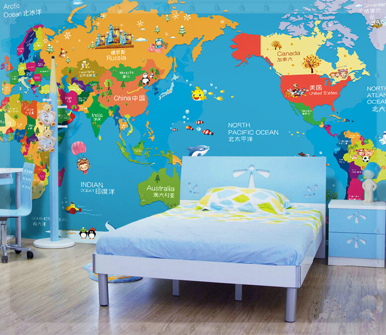 Children room seamless large murals aisle personality wallpaper children room seamless large murals aisle personality wallpaper cartoon cloth map of the world childrens education cold water in wallpapers from home gumiabroncs Choice Image