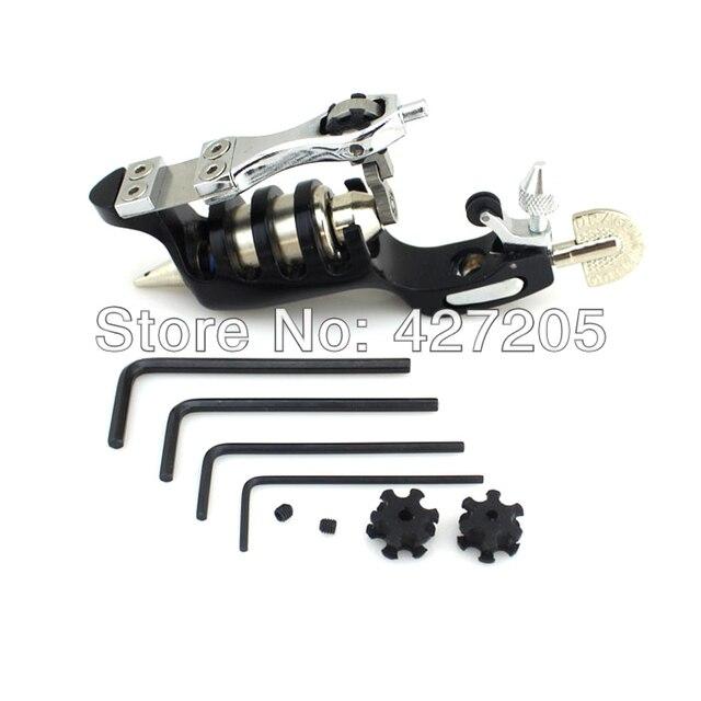 Черный Sunskin Ротари Двигателя Машина Татуировки Вкладыша shader Питания + 50 ШТ. Иглы Татуировки MIX Размер Бесплатная Доставка