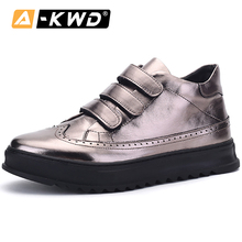 Lead Mens Trainers Men Sneakers Luxury Brand Hook & Loop New Thick Bottom High