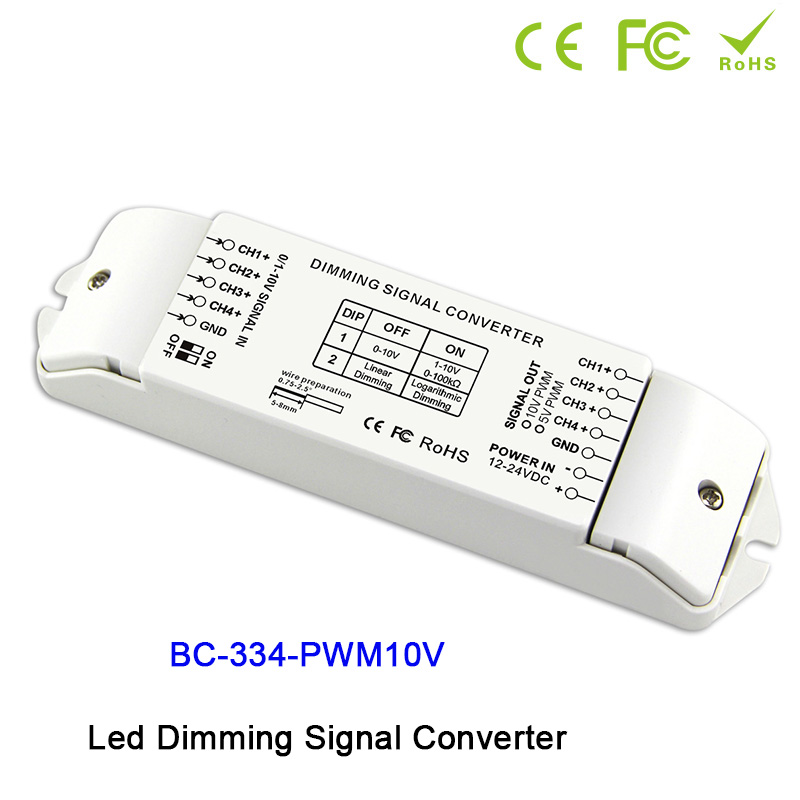 0 1 10V to PWM 5V PWM 10V 2 DIP switches out 4 channels LED dimming signal converter signal driver controller for led lamp in Dimmers from Lights Lighting