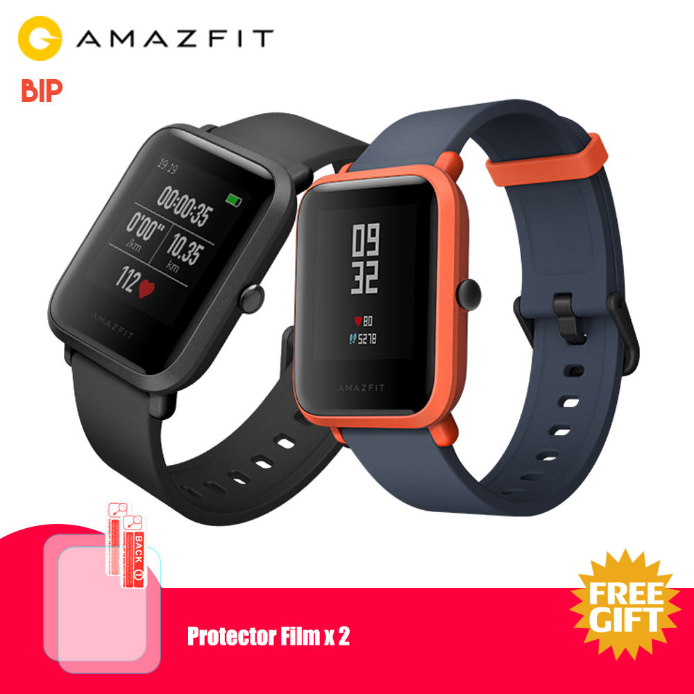 Original Xiaomi AMAZFIT Bip Smart Watch Waterproof IP68 Smartwatch Heart Rate Sleep Monitor GPS English Version