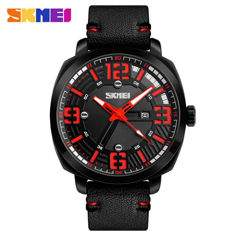 New Luxury Brand SKMEI Men Sport Casual Watches Men's Quartz Clock Man Army Military Leather Wrist Watches Relogio Masculino xinge top brand luxury leather strap military watches male sport clock business 2017 quartz men fashion wrist watches xg1080