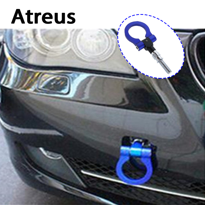 Atreus Car Auto Trailer Ring Hook Universal Vehicle Towing Hanger for VW polo passat b5 b6 Mazda 3 6 cx-5 Toyota corolla Ford atreus 3 tons car styling wind up lift crank speed handle emergency for vw polo passat b5 b6 mazda 3 6 cx 5 toyota corolla ford