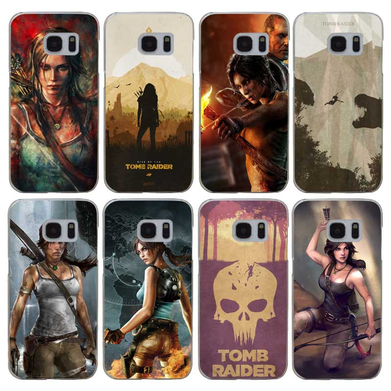 H327 Tomb Raider Transparent Hard PC Case Cover For Samsung Galaxy S 3 4 5 6 7 8 Mini Edge Plus Note 3 4 5 8 ...
