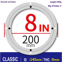 CLASSIC 8 Inch 20cm Furniture Hardware Accessories Lazy Susan Aluminum Swivel Plate