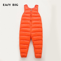 EASY BIG Winter Warm Children Down Overalls For Girls Unisex Kids Overalls For Boys CC0145