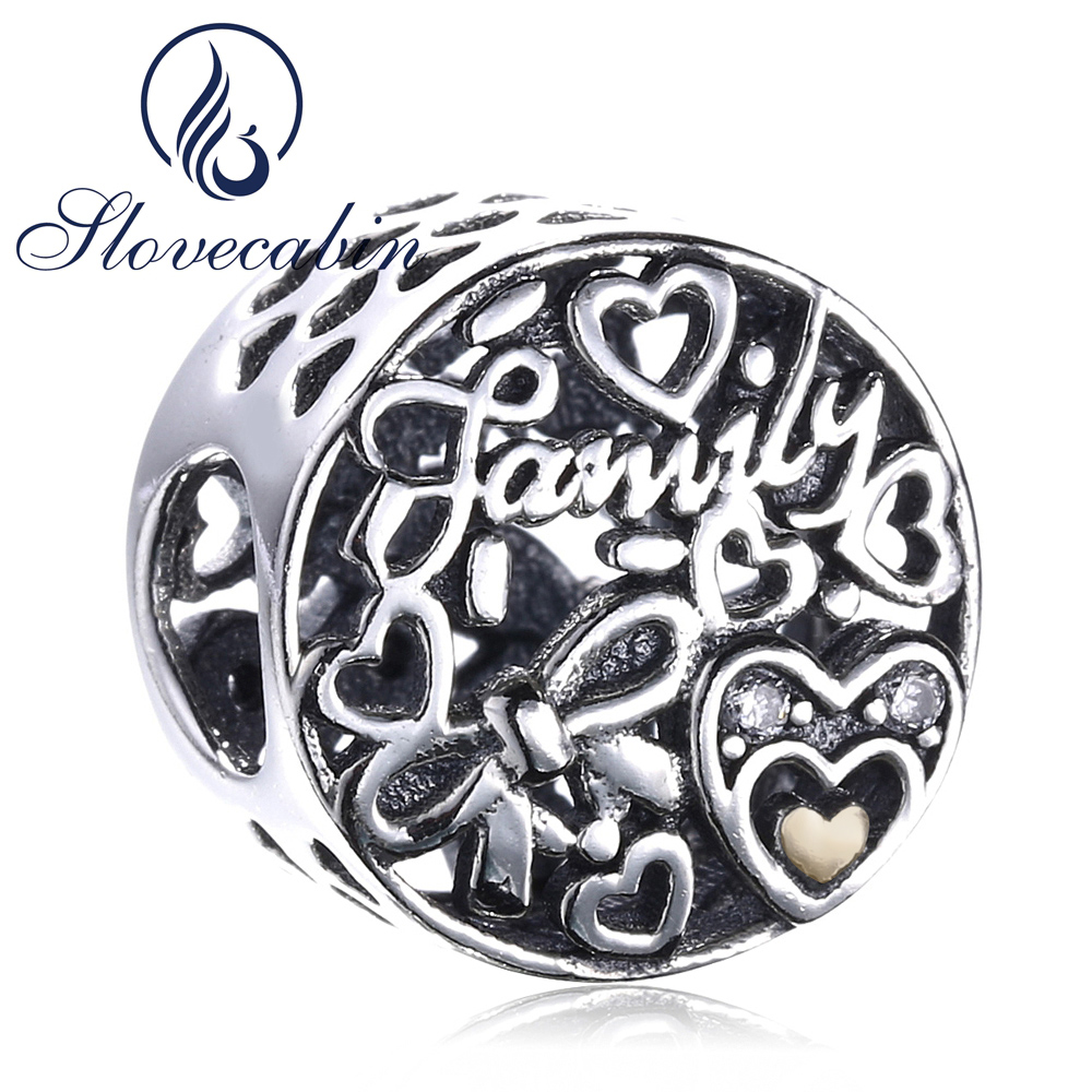 Slovecabin 925 Sterling Silver Family Tribute Beads For Jewelry Making Fit Original Charms Pandora Bracelets Diy Silver 925 Bead