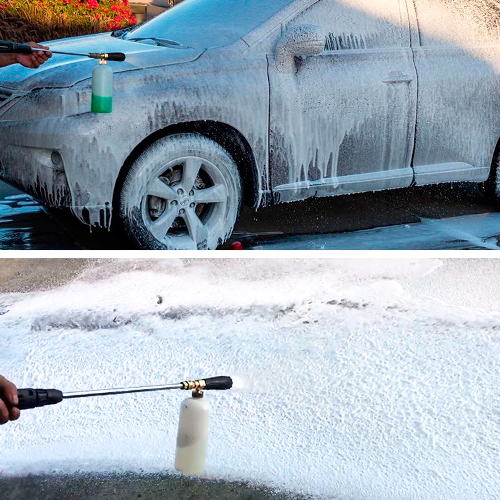 Image 5 - snow foam lance City wolf high pressure washer foam gun  with 1/4 quick connector disinfection car cleaning accessory-in Car Washer from Automobiles & Motorcycles