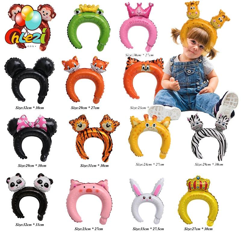 50 sztuk Cute animal opaska tiara balony Mickey Minnie żaba królik niedźwiedź baby shower urodziny wesele dekoracje dla dzieci zabawki