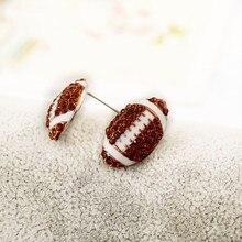 popular enamel sporty stud earring diy american football ball rhinestone crystal stone earrings one pair xye226 american football ball 39 m 3xl
