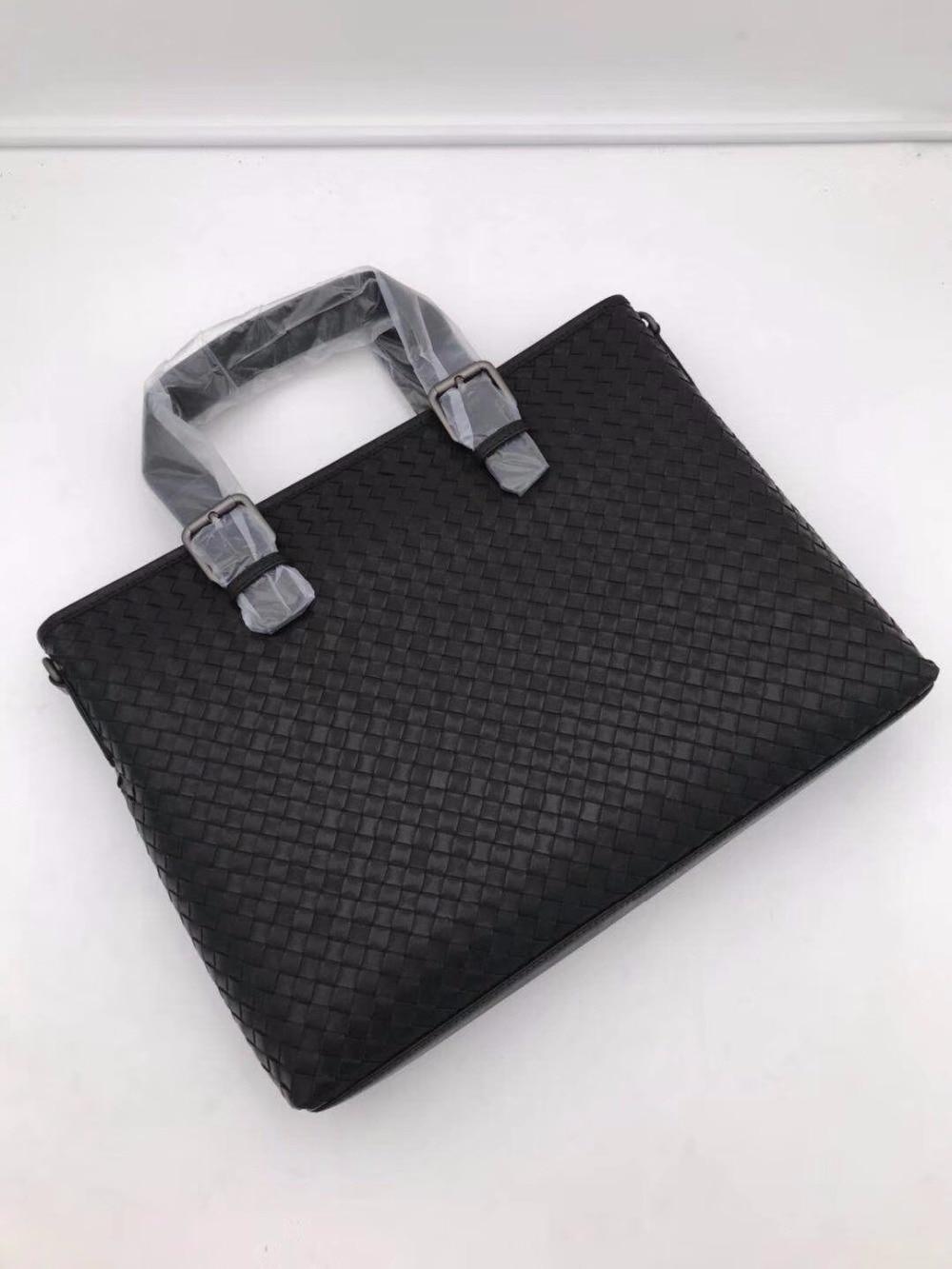New Pattern Men's Briefcase Portable The Single Shoulder Bag Business Affairs High-capacity Internal And External Dermis
