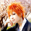 NEW Kurosaki Ichigo BLEACH Orange Anime Short Cosplay Wig
