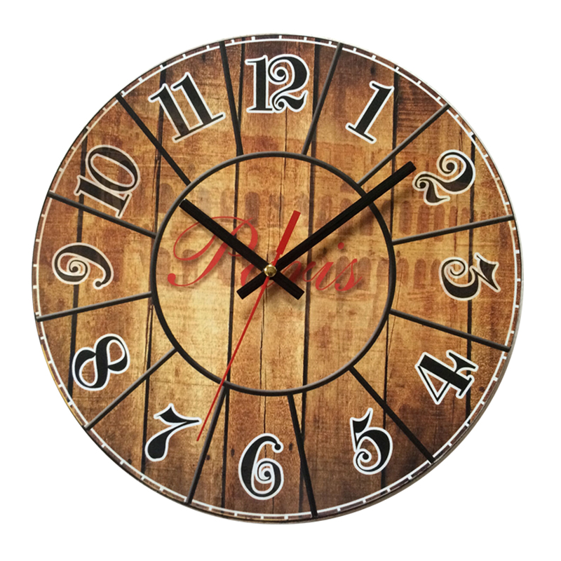 DCF Radio Controlled Wood Wall Clocks Hanging By Paris ...