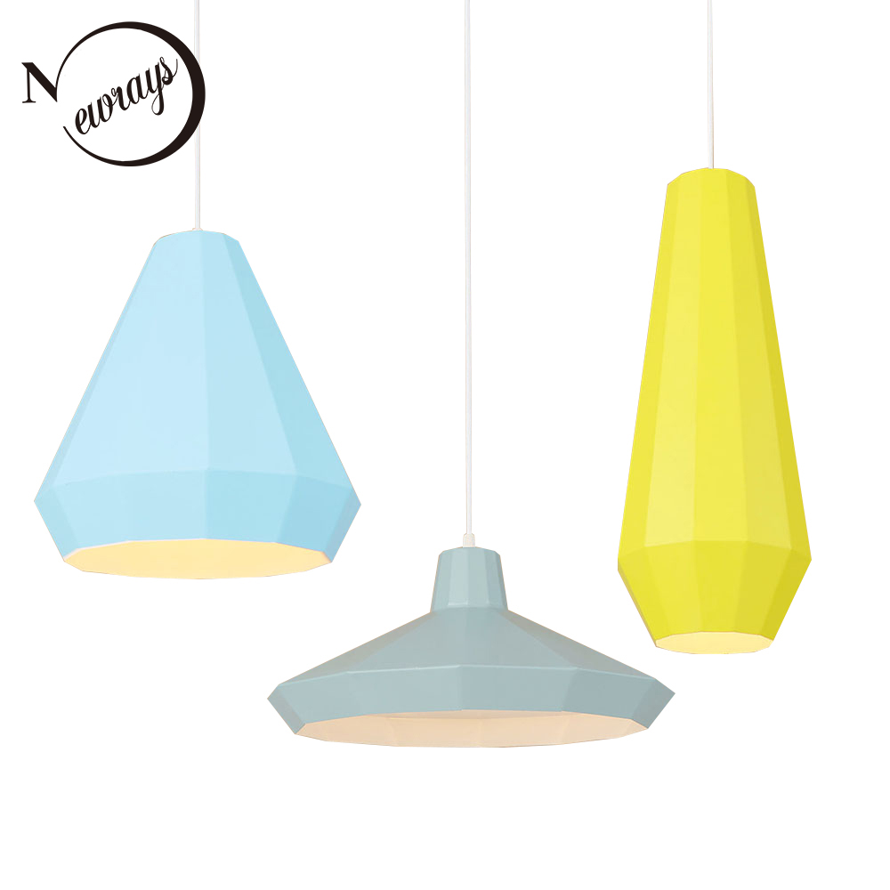 Modern colorful aluminum pendant light LED E27 220V hanging lamp for living room restaurant dining room hotel cafe bedroom bar simple creative wood aluminum pendant light dining room bedroom lamp modern the tophams hotel cafe lighting pendant lamp