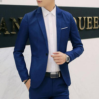 2017 New Mens Blazer Jacket Men S Casual Slim Fit Suit Coats Terno Masculino Men Casual