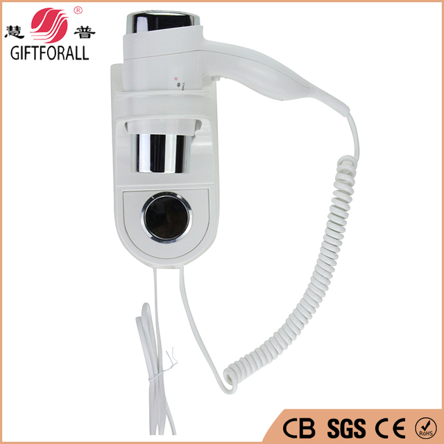 Hot Sales Wall Mounted Hotel Hair Dryer With Electric Over-Heating Protection Hot/Cold Air hair dryer blower