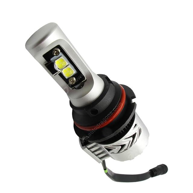 Pour audi 800/100 pour Dodge Ram G8 phare LED 9004 salut LO voiture Led 40W pur 6000LM CR XHP 50 haute puissance ventilateur dissipateur thermique intégré