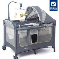 Valdera многоцелевой складная кроватка для младенца Мода складная кровать для игр bb ребенок кроватка колыбель кровать