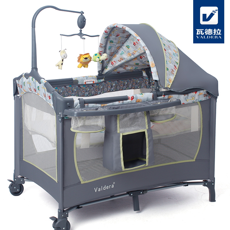 Valdera multifunctional folding baby bed fashion portable game bed bb baby child bed cradle bed valdera portable folding baby crib multifunctional bed bb bed newborn game nets