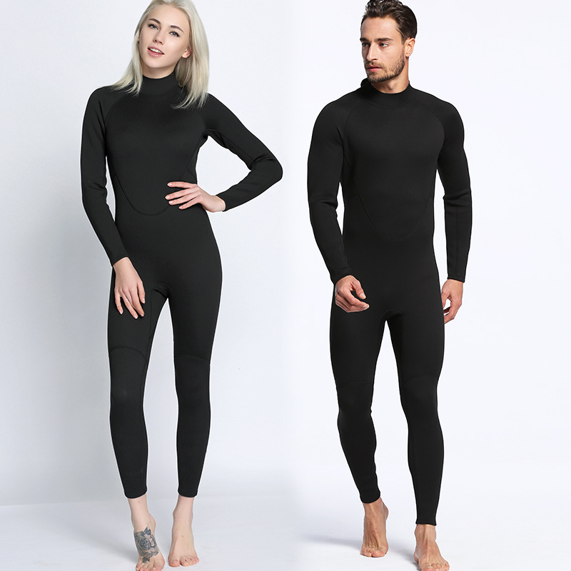 men and women One Piece Neoprene 2mm Diving Suit Winter Long Sleeve Men Wetsuit Prevent Jellyfish