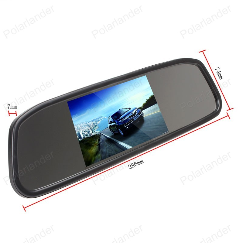 Rear View Reversing Parking Car Backup Camera System With 3 5 Inch Monitor Vehicle Electronics Gps Consumer Electronics