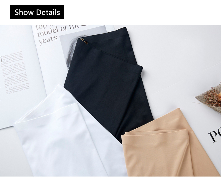 HTB1bJ2.SbPpK1RjSZFFq6y5PpXak - New Summer Thin Women Large Size Safety Shorts Ice Silk Cool High Elasticity Plus Size Safety Pants Shorts Under Skirt Female