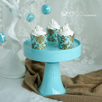 SWEETGO Tiffany blue vintage cake stand metal stand up cupcakes holder cakepops table decorating candy bar party supplier