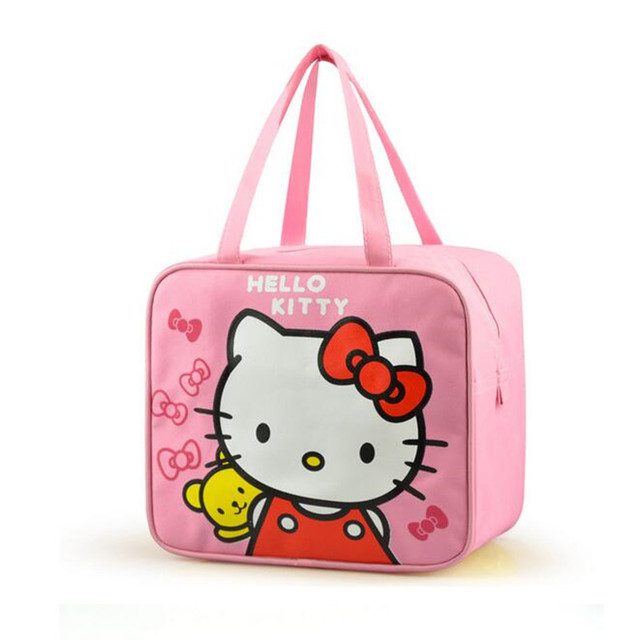 96d411cc89bc 2016 New Cute Hello Kitty Portable Insulated Canvas lunch Bag Thermal Food  Picnic Lunch Bags for